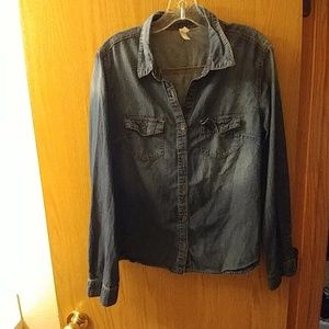 Xhilaration Denim Jean Shirt - Size XL